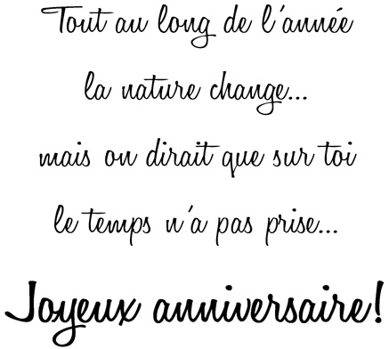Birthday Wishes Text French Only